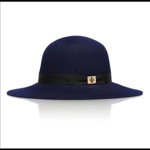 Tory Burch Navy Blue Wide Floppy Hat.